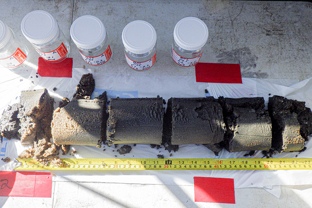Sand core sample for dredging project